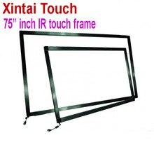 Быстрая Бесплатная Доставка! 75 дюймовая ИК сенсорная панель, комплект без стекла/10 точечная Интерактивная рамка для сенсорного экрана