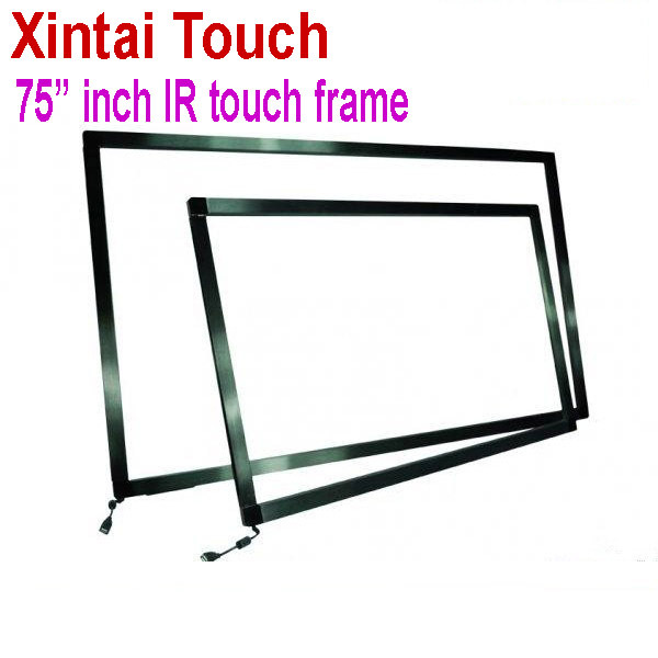 Quick Free Shipping! 75 inch IR Touch Screen Panel kit without glass / 10 points interactive touch screen frame