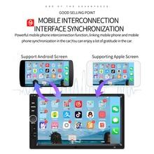 7 дюймов сенсорный экран Экран Bluetooth стерео радио автомобиль двойной шпиндель MP5 плеер поддерживает 360 для панорамной съемки изображения для...