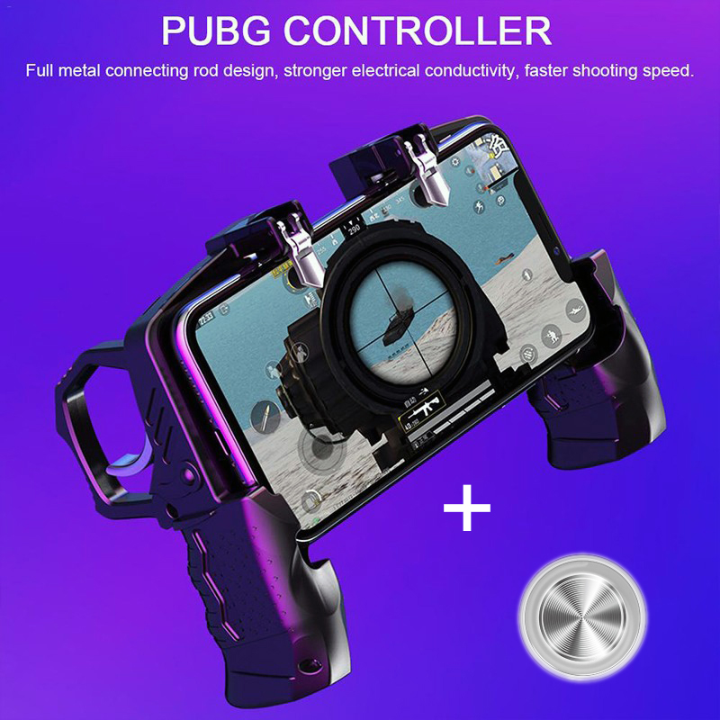 Call of Duty Joystick PUBG Mobile Game Controller Gamepad Metal Trigger Shooting Free Fire Gamepad For IOS Android COD Phone image