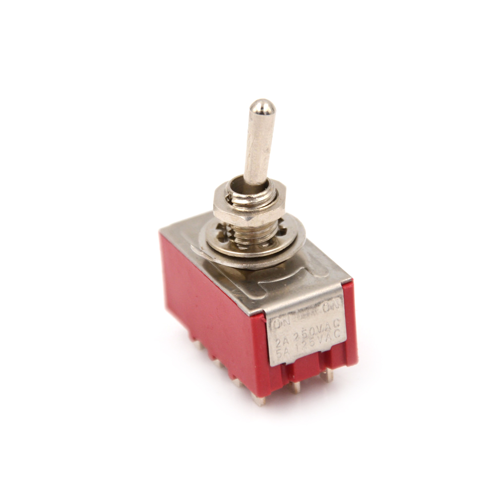2 Position 12 Pin Mini MTS-402 Toggle Switch 6A/125VAC 2A/250VAC 4PDT ON/ON image