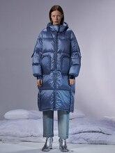 IRINACH45 2020 אוסף חדש עבה חם נשים ארוך לבן ברווז למטה מעיל מעיל החורף