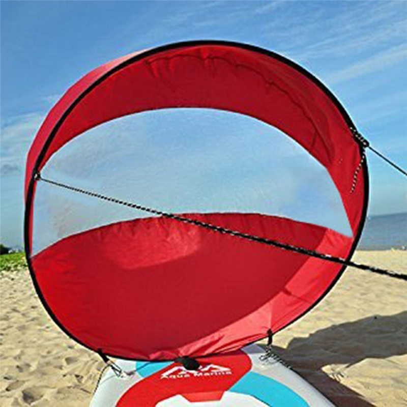 42'/108cm Sail Foldable Kayak Boat Wind Sail Sup Paddle Board Sailing Canoe Stroke Paddle Rowing Boats Wind Clear Window