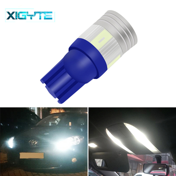 1pcs T10 Super Bright 6 SMD 5630 LED Projector Lens Auto Wedge Lamp WY5W W5W 6SMD 5730 LED Car Marke