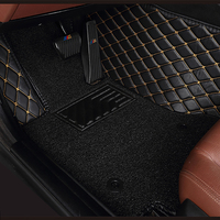 custom Double layer car floor mats for subaru forester XV BRZ Outback Legacy Tribeca Impreza all models car mats 5 seat