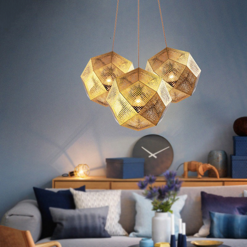 Nordic Geometry Box Bric Pendant Lights Balcony Dining Room Living Room Lustre Hanglamp Simplicity Stair Hanging Lamp Fixture
