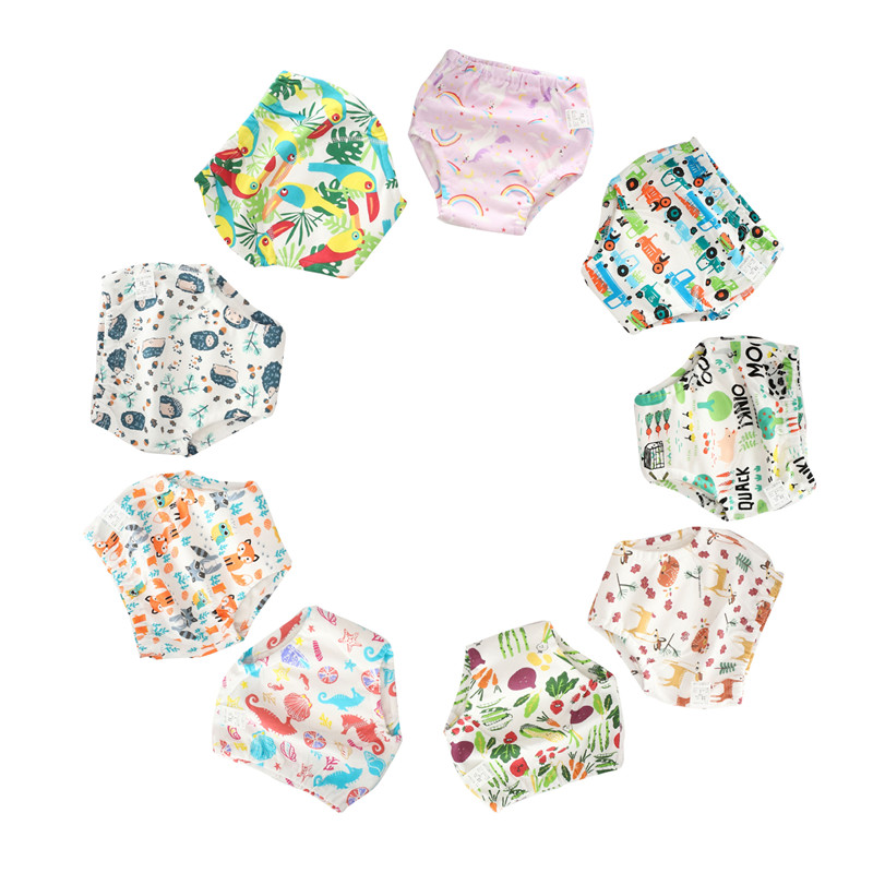 1Pcs Cotton Baby Reusable Waterproof Diaper Washable Diapers Cloth One Size Baby Child Nappy Training Nappies Fit 9-36Kg