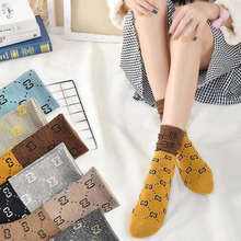 women general new spring and summer fashion breathable multicolor letters cotton socks