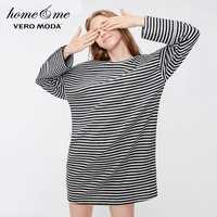 Vero moda 2019 novo velo feminino mangas compridas malha homewear vestido | 318361503