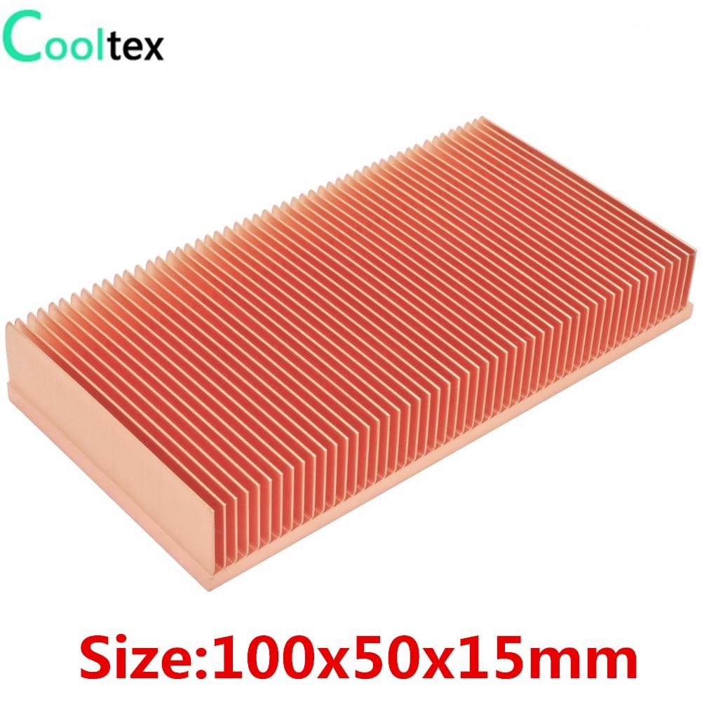 Радиатор из чистой меди 100x50x15 мм, радиатор для электронной ОЗУ, светодиодный кулер для охлаждения VGA