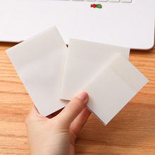 Waterproof PET Transparent 50 Sheets Memo Sticky Note Paper Daily To Do It Check List Paperlaria School Stationery