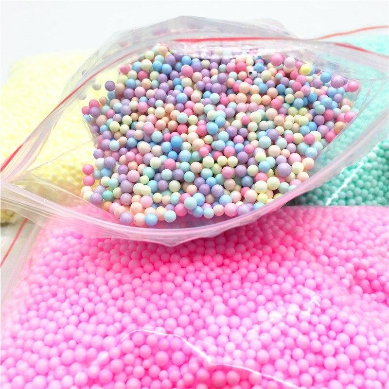 Christmas Balls 2-4mm 4-6mm Polystyrene Styrofoam Balls Bottle DIY Snow Mud Particles Accessories Slime Balls Foam Filler 8g