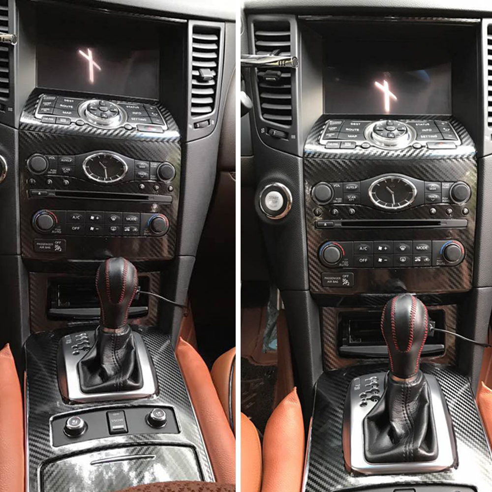 Car-Styling 5D Carbon Fiber Car Interior Center Console Color Change Molding Sticker Decals For Infiniti QX70 FX35 FX37