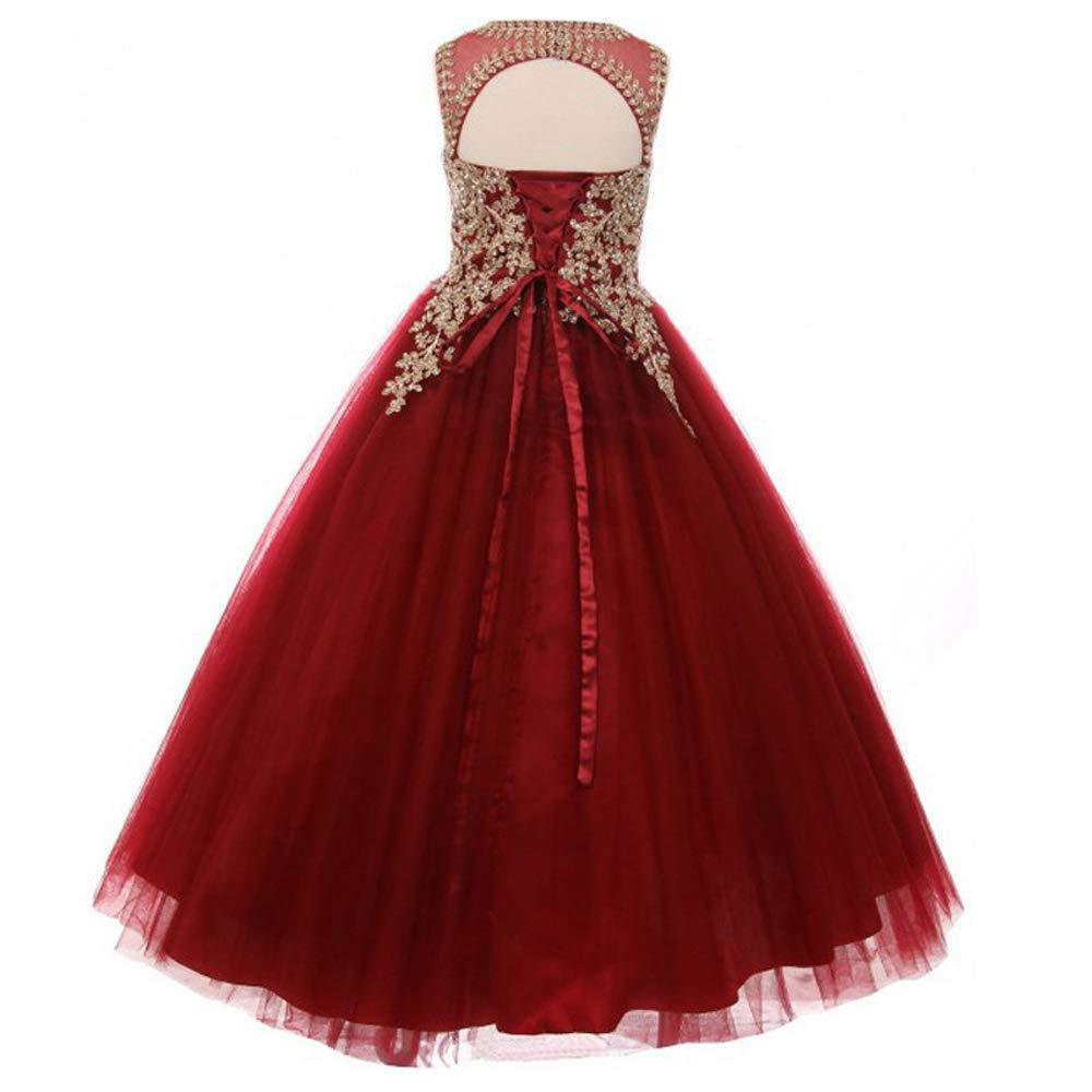 AI Birthday Performance Catwalks Host Lace Hot Drilling Sleeveless New Style Formal Dress Children Puffy Princess Skirt