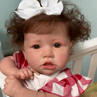55CM Full Silicone Reborn Baby Toy Realistic Crooked Mouth Reborn Baby Doll Lifelike Boneca Newborn Doll Toys For Children Gift