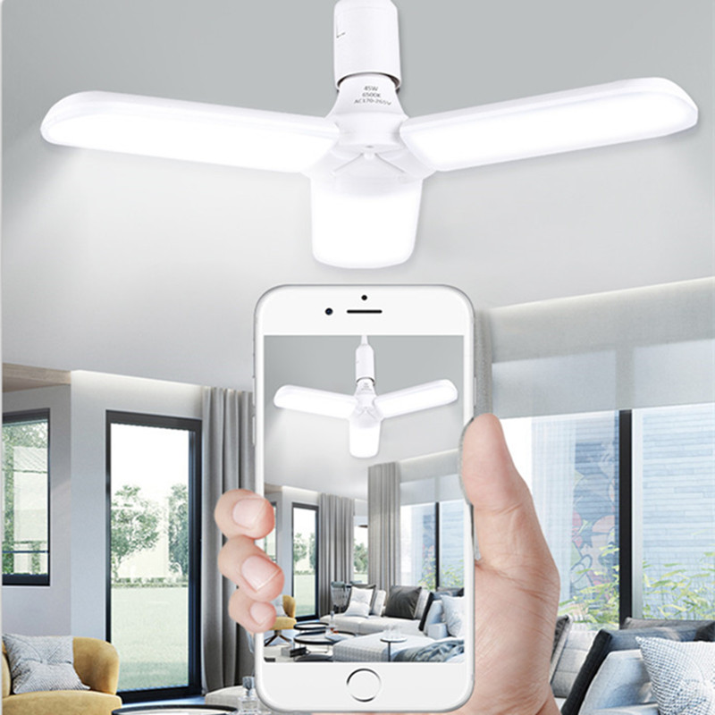 <font><b>E27</b></font> <font><b>LED</b></font> Light Bulb Energy Saving High Power <font><b>30W</b></font> 45W 60W <font><b>Led</b></font> Lamp 220V Fan Blade <font><b>LED</b></font> Bulbs Light for Home Kitchen Garage Workshop image