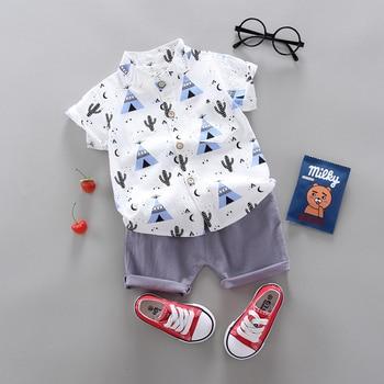 Kemeja Lengan Pendek dan Celana Pendek Anak 1