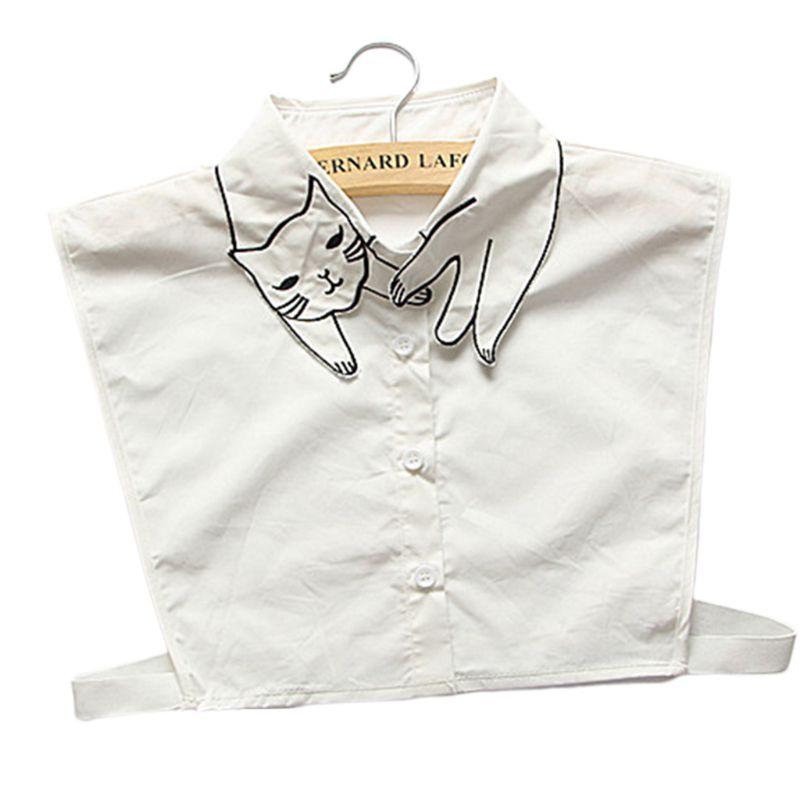 Women Fashion Detachable Cotton Solid Shirt Fake Collar False Lapel Hot Sale!