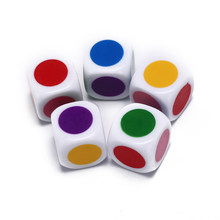 5 pçs jogo de tabuleiro seis lados cor branca festa da família engraçado mesa cubos jogos brinquedos educativos