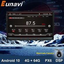 Eunavi 2 Din 9 אנדרואיד 10.0 רכב רדיו סטריאו GPS עבור פולקסווגן פאסאט B6 CC פולו גולף 5 6 טוראן ג טה Tiguan Magotan מושב Navagation
