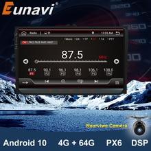 Eunavi 2 din 9 android android android 10.0 rádio do carro estéreo gps para vw passat b6 cc polo golf 5 6 touran jetta tiguan magotan assento navagação