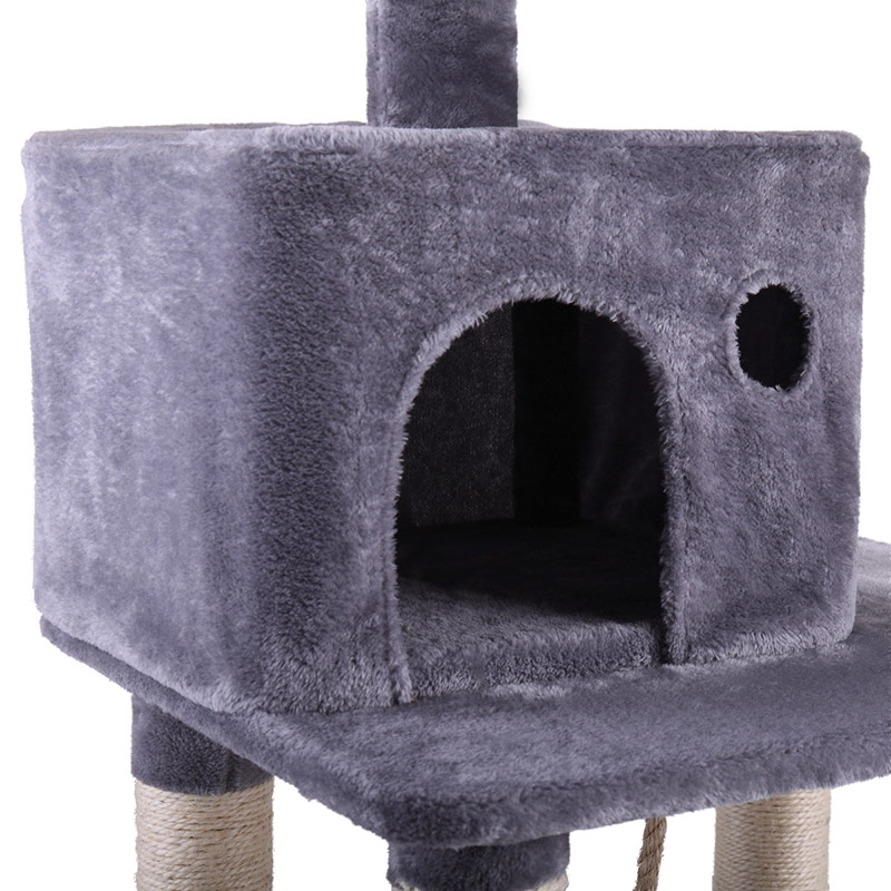 Cat Tree House Multi Level With Hanging Ball Animal Funny Sisal Covered Scratching Posts Protecting Furniture Pet House PT0158 - 3