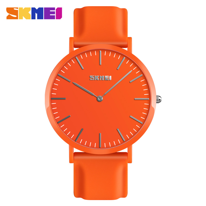 SKMEI Couples Watch Simple Men Watch Sport Clock Casual Time Waterproof Wrist Watch Women Soft Silicone Strap Reloj Mujer 9179