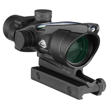 Fire Wolf Acog 4X32 Tactical RifleScope Real Fiber Green Red Dot Illuminated Etched Reticle Optical sight Crossbow for hunting 4