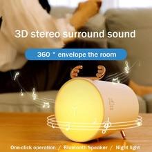 New Portable Speaker Wireless Bluetooth Speaker TWS Mini Gift 3 Block Night Light Speaker 3D Surround Sound Bluetooth 5.0 unique design wireless bluetooth levitating speaker 360 degrees surround sound led light floating speaker for smartphones