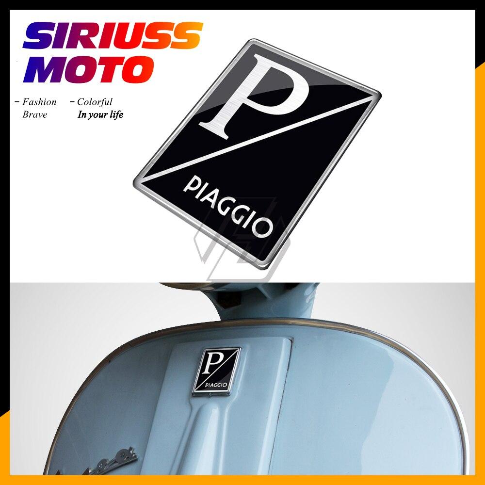 3D Motorcycle Sticker Case For PIAGGIO VESPA GTS GTV LX LXV MID Logo