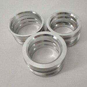 Image 4 - 4 Pçs/set Liga de Alumínio Anel de Roda de Carro Roda Hub Centro Bore Collar 66.6 57.1/73.1 54.1/73.1 56.1/73.1 60.1/73.1 64.1/73.1 67.1