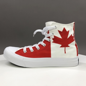 Wen Design Nach Kanada Flagge Ahorn Blatt Handgemalte Schuhe High Top Herren Frauen Leinwand Skate Turnschuhe Outdoor Sport Plimsolls