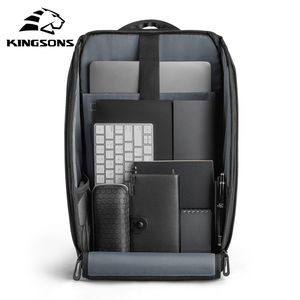 Image 5 - Kingsons Multifunction Men 15 inch Laptop Backpacks  Fashion Waterproof Travel Backpack Anti thief male Mochila school bags hot