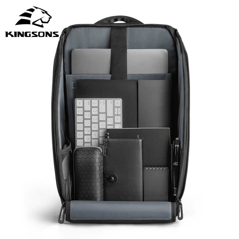 Kingsons Multifunctionele Mannen 15 Inch Laptop Rugzakken Fashion Waterdichte Rugzak Anti-Dief Mannelijke Mochila Schooltassen Hot
