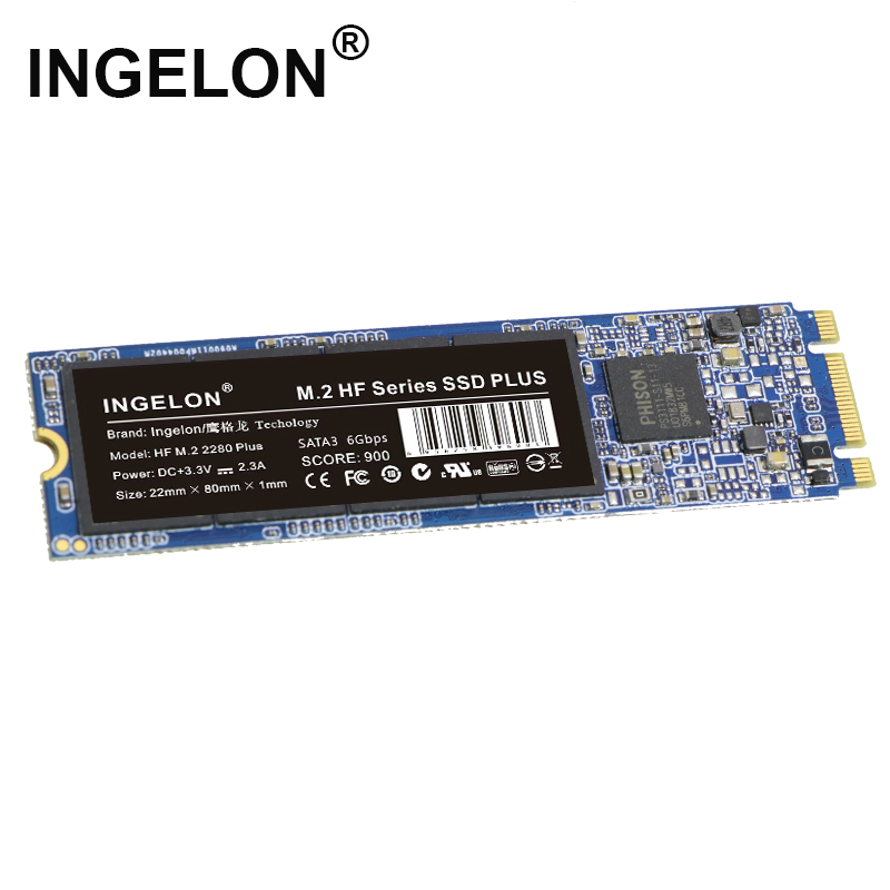 Ingelon M.2 SSD 240GB 120GB Sata 3 B Key Solid State Drive Hard Disk Plus SSD Adapter Sets For Laptop & Computer M2 SSD Dropship
