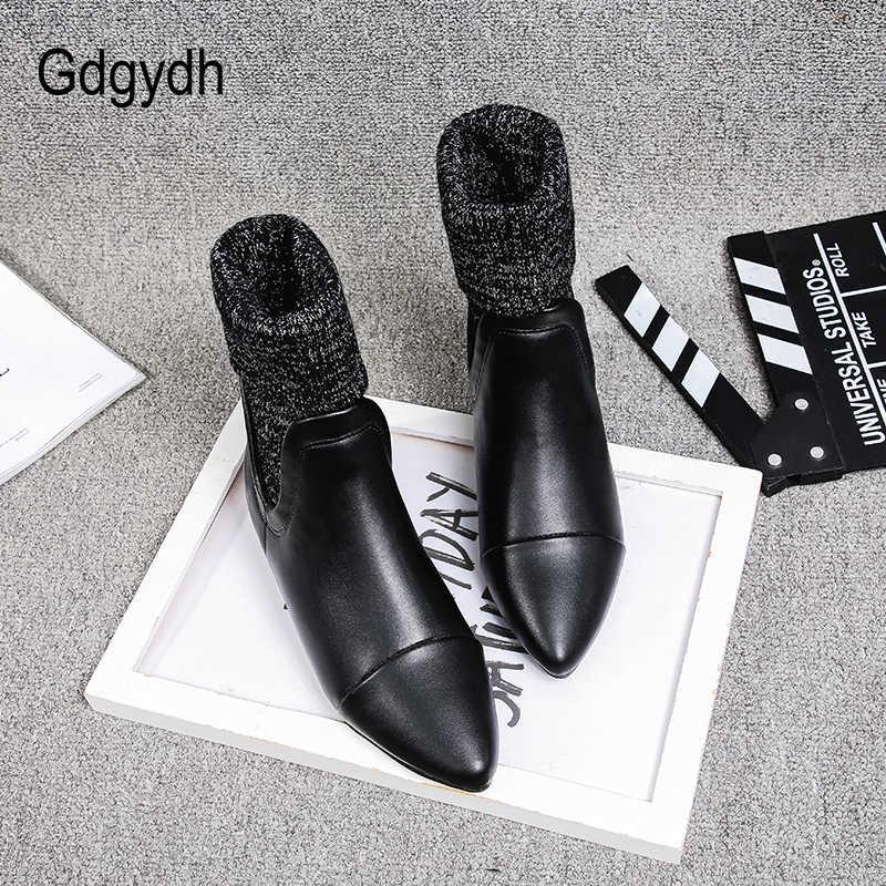 Gdgydh ใหม่มาถึงสุภาพสตรีฤดูใบไม้ร่วงรองเท้าแบนรองเท้าผู้หญิง Pointed Toes ข้อเท้าเชลซีรองเท้าผู้หญิงเปิด-ผ่านคุณภาพ