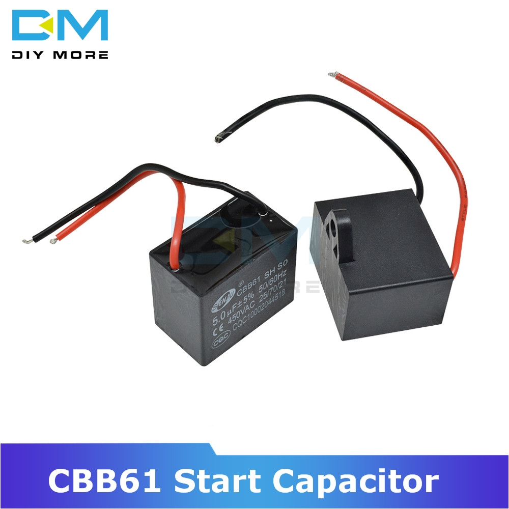 CBB61 250/<font><b>450V</b></font> AC Motor Speed Run <font><b>Capacitor</b></font> Fan Refrigerator Start <font><b>Capacitor</b></font> Terminal Ceiling Fan CBB Motor Running Rectangle image