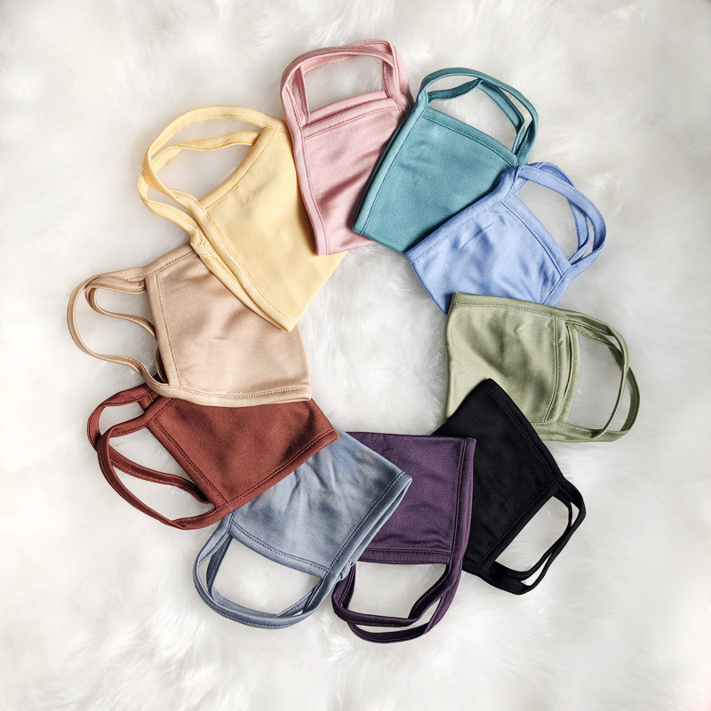 Silk Mask Comfortable And Breathable Summer Windshield Sunscreen Mask Double-layer Parent-child Mask Knitted Silk Mask