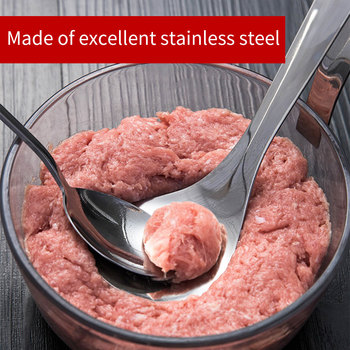 Meatball Maker Spoon Stainless Steel Non-Stick Creative Meatball Maker Cooking Tools Kitchen Gadgets And Accessories non stick meat baller spoon with long handle stainless steel meatball maker press meatball scoops meat ball maker kitchen tool
