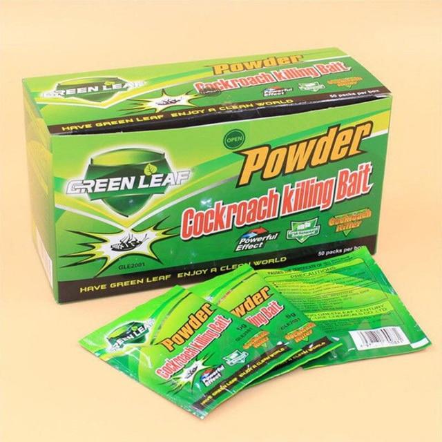 50 개/상자 상자 바퀴벌레 함정 바퀴벌레 죽이는 미끼 홈 효과적인 분말 Repeller 정원 해충 방제 킬러 거부 용품