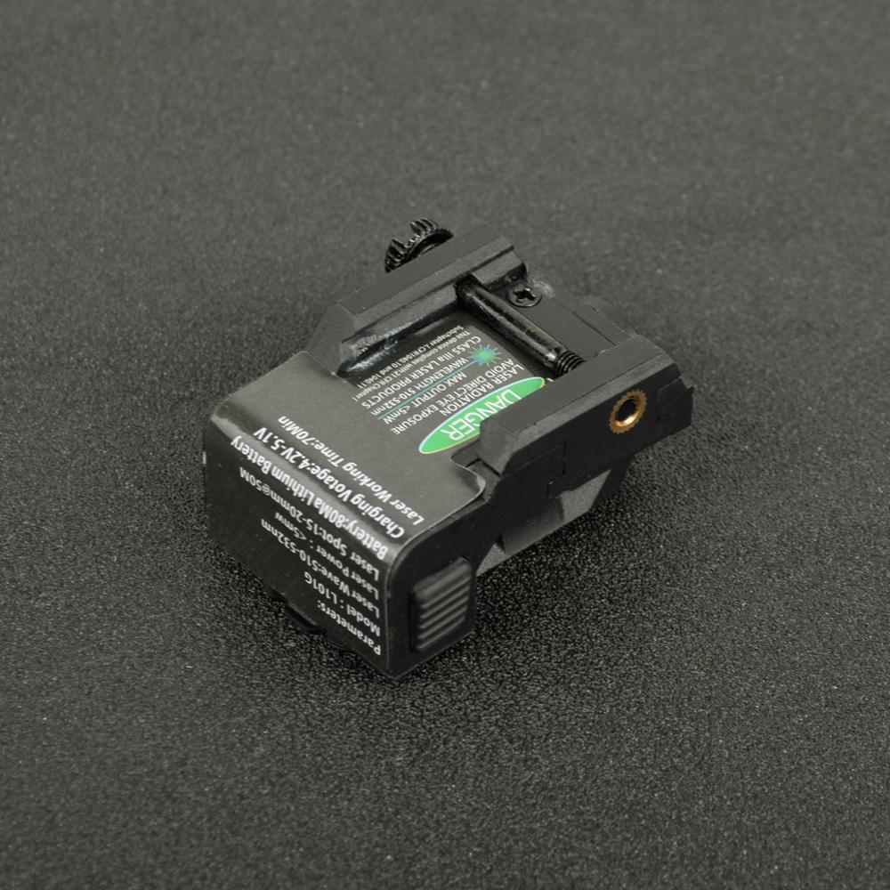 Tactical Military Rechargeable Pistol Mini Green Laser Sight for Glock Colt 1911 Airgun Rifle Handgun Fit 20mm Rai Mount-1
