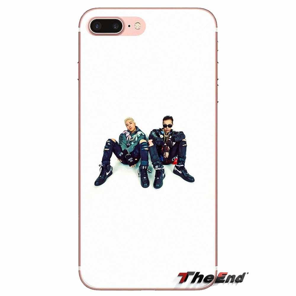 Kpop bingbang GD logo Silicone Étui De Téléphone Portable Pour HTC U11 Un M7 M8 A9 M9 M10 E9 Désir 630 530 626 628 816 820 Motorola G G2 G3