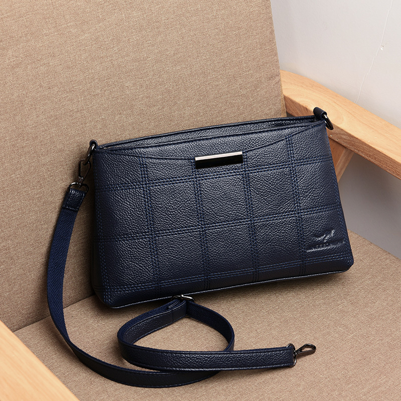 New Plaid Bag Lady Shoulder CrossBody Bags For Women Messenger Bags Hot Sae Genuine Leather Women's Handbags Bolsas Feminina