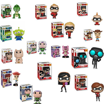 FUNKO POP   Action Toy Figures Toy Story The Incredibles  Buzz Lightyear Doll Model Strawberry bear Hug dragon  Birthday gift cd sweet action the ultimate story