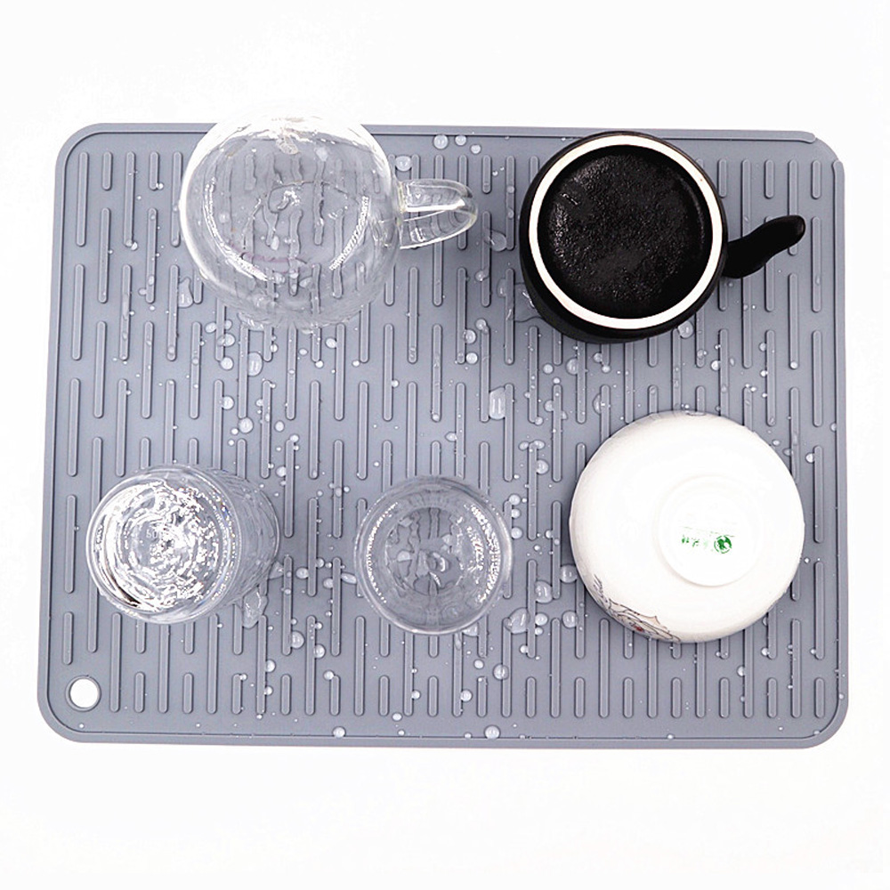 Multifuction Silicone Drying Mat Heat Insulation Pot Holder Kitchen Sink Protector Mat Pad Dish Cup Draining Mat Table Placemat image