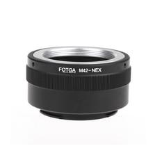 Fotga M42 עדשת מתאם טבעת מתאם טבעת עבור Sony NEX e mount NEX NEX3 NEX5n NEX5t A7 A6000