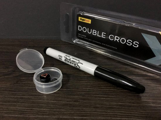 Double Cross By Mark Southworth (1 X Stamper + 1 Heart Stamper) Magic Tricks Magician Close Up Illusions Gimmick Mentalism Magia