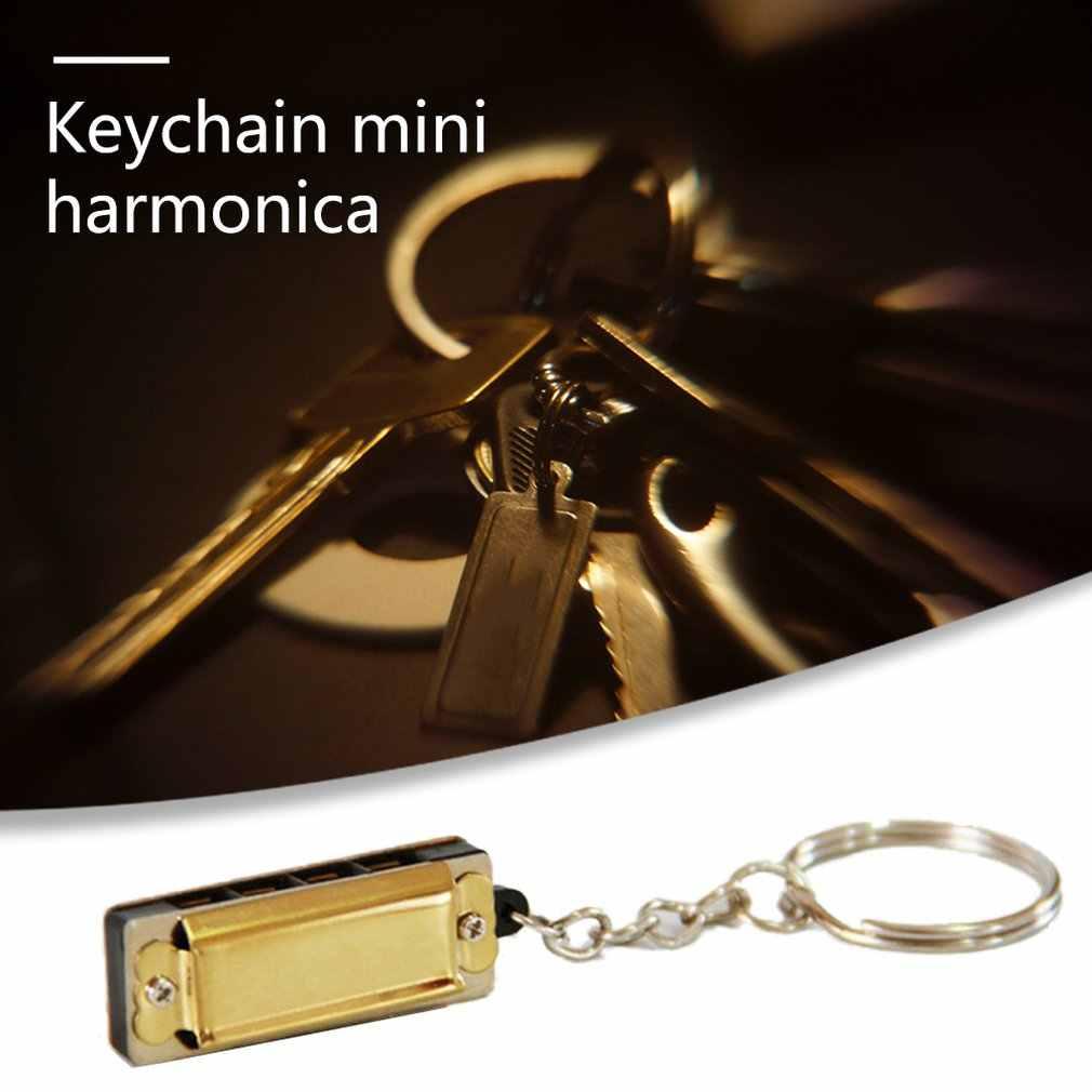 Harmonia colorida mini colar 8-tom gaita diatônica 4 buraco gaita azul pingente colar instrumento musical