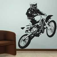 Autocollant moto tout-terrain véhicule Motocross décalcomanie affiches vinyle stickers muraux Autobike Pegatina décor Mural Autocycle