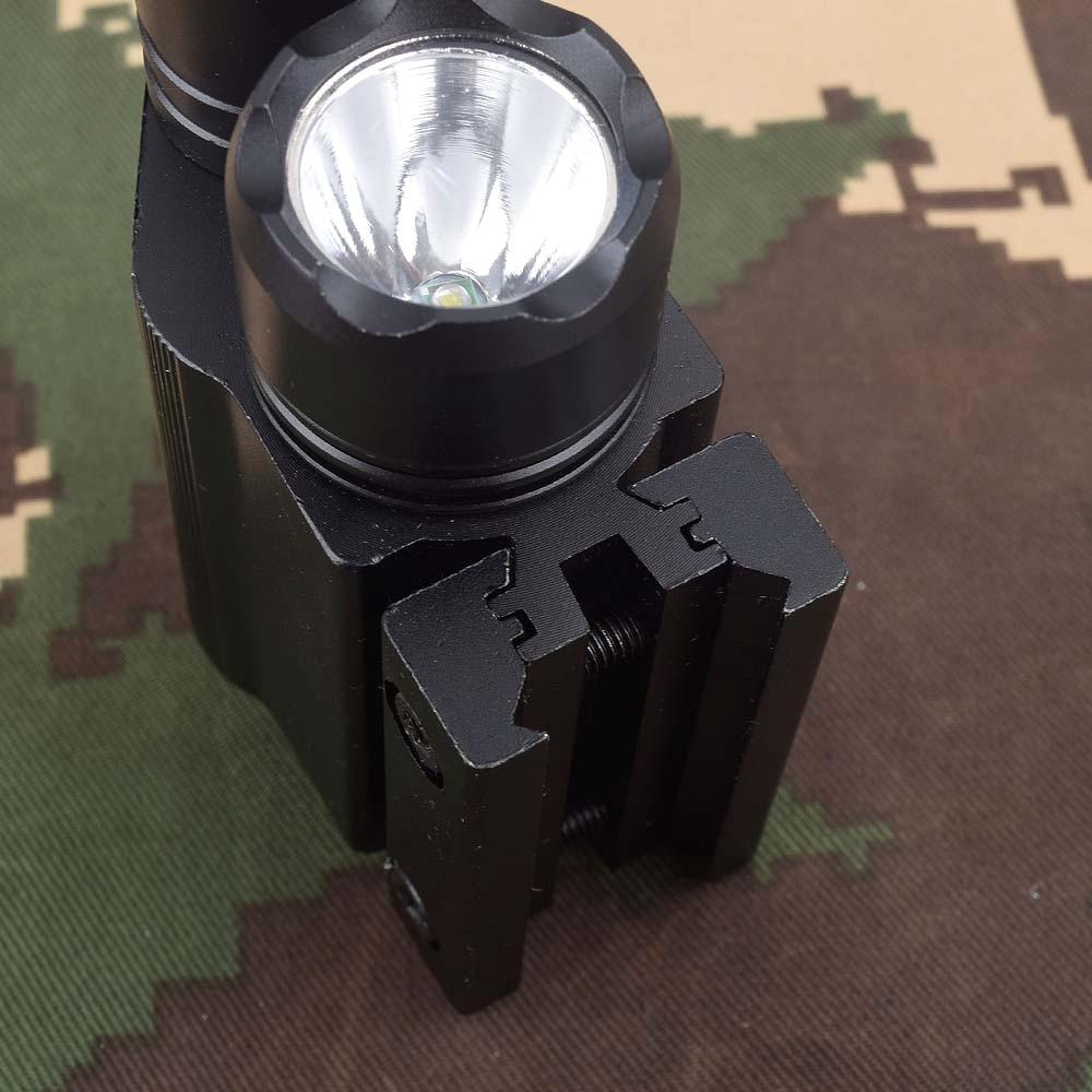 Tactical LED Flashlight Green / Red Laser Sight For 20mm Rail Mini Glock Pistol Gun Light lanterna Airsoft Light-2